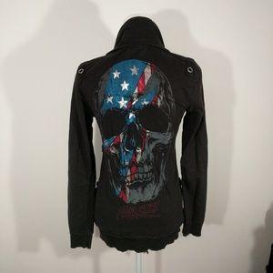 Affliction Rebel Rebel sweatshirt full zip size M